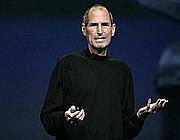 Steve Jobs durante una presentazione della Apple