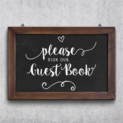Please Sign Our Guest Book Wedding Sign   Books, Weddings