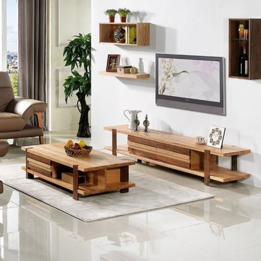Solid Wood Living Room Furniture Coffee Table Tv Stand
