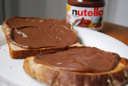 nutella for breakfast