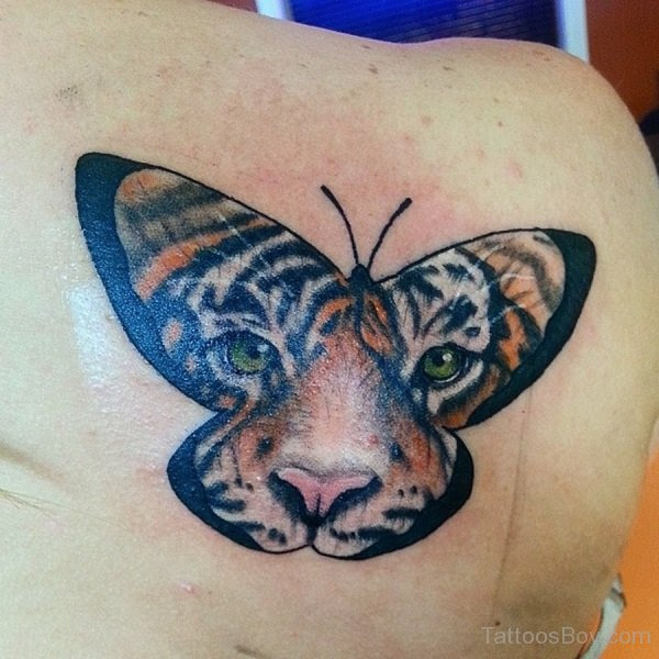 Tiger Butterfly Tattoo On Back Tattoo Designs Tattoo Pictures