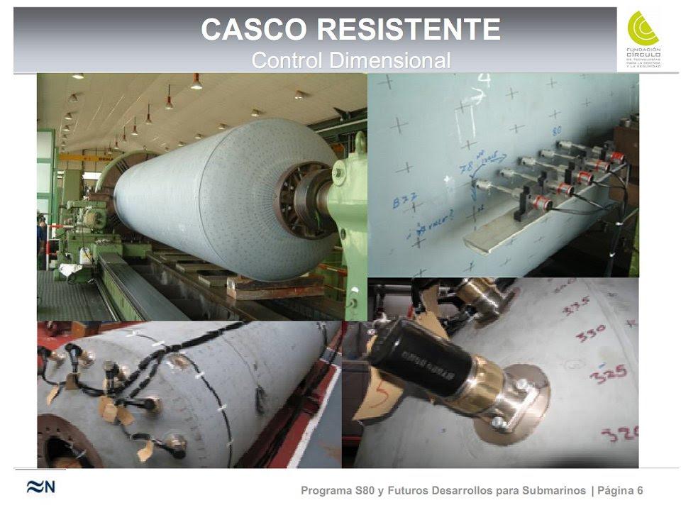 Navantia construyó un modelo a escala, de 6,80 por 1,46 metros, del casco resistente del S-80 (Fuente: Fundación Círculo)