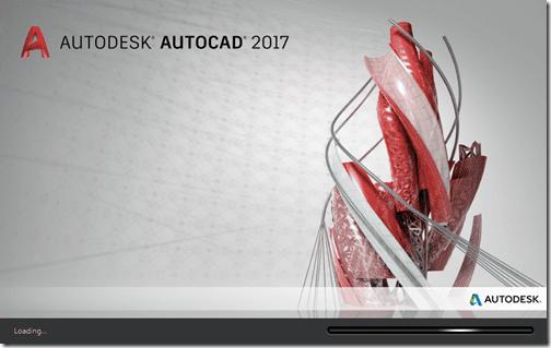 AutoCAD 2017 splash