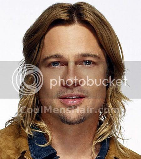Brad Pitt Hair 2009. Photo of Brad Pitt long hair