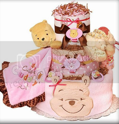 Pooh Diaper Cake