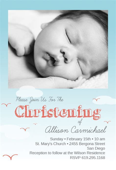 All Smiles   Baptism & Christening Invitation Template