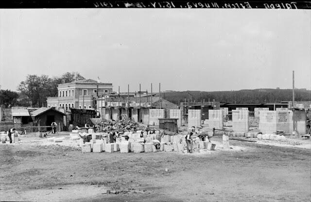 Estación de ferrocarril de Toledo el 16 de abril de 1914  © Archivo Histórico Ferroviario del Museo del Ferrocarril de Madrid. Fotografía de F. Salgado. Signatura 3492-IF MZA 0-7
