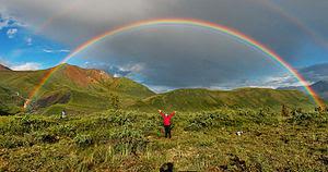 Full featured double rainbow in Wrangell-St. E...