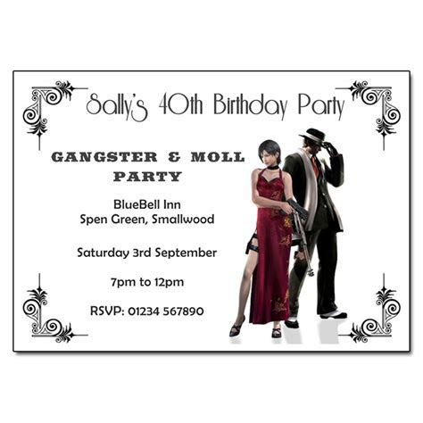 Gangster Party Invitation   Party Invitation