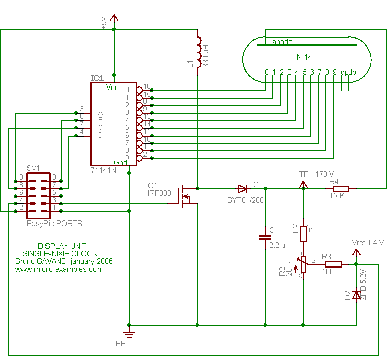 nixie clock schematic