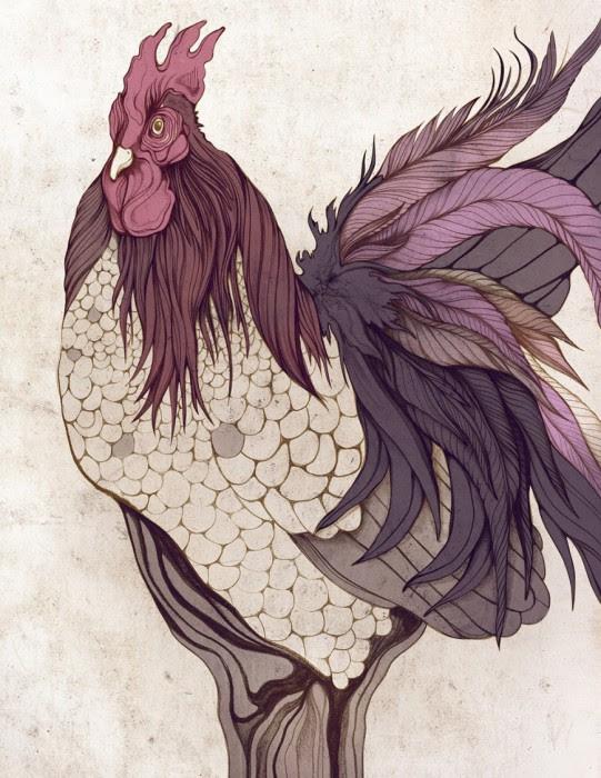 Пурпурный петух.