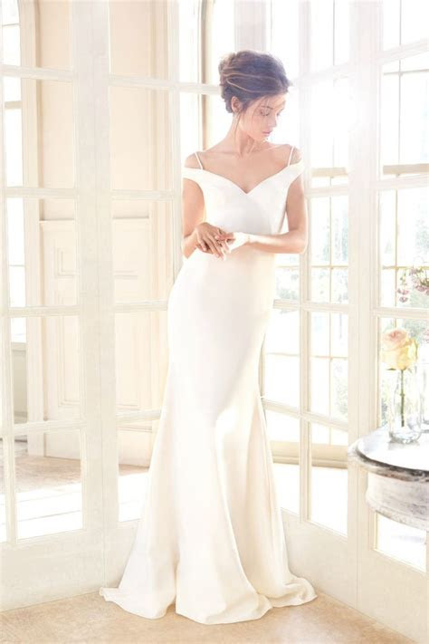 25  best ideas about Off shoulder wedding dress on
