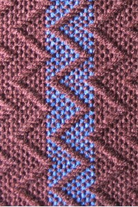 Detail of twill zig zag.