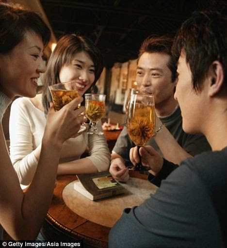 At particular risk: A bout 30 per cent of people of Asian descent are unable to metabolise alcohol into harmless constituents