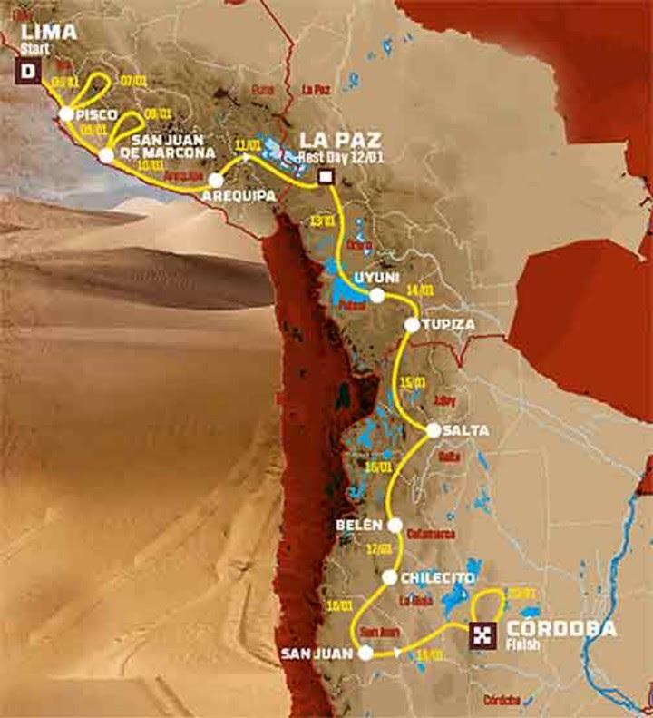 Resultado de imagen para ruta Dakar 2018