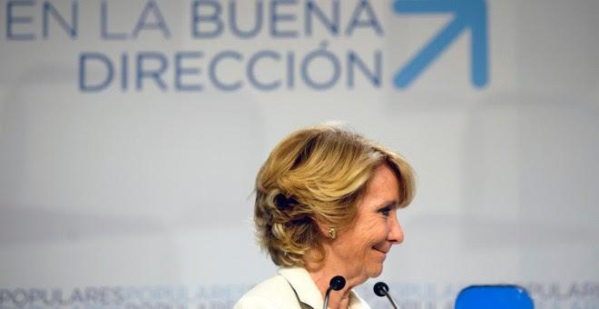Esperanza Aguirre. AFP