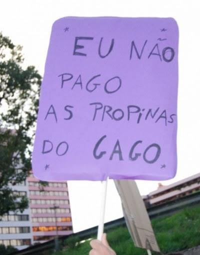 Manifestação de Estudantes do Ensino Superior, 17 de Novembro de 2009. Foto Ana Candeias.