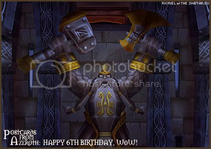 Postcards of Azeroth: Happy 6th Birthday to WoW, by Rioriel Ail'thera of theshatar.eu