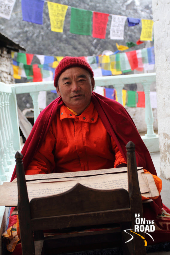 Buddhist Monk at T Gompa
