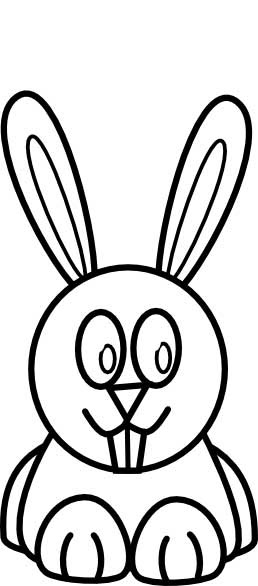 Bunny Rabbit Coloring Page for Kids - Free Printable Picture