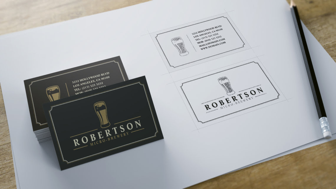 micro brewery craft beer business cards by j32design