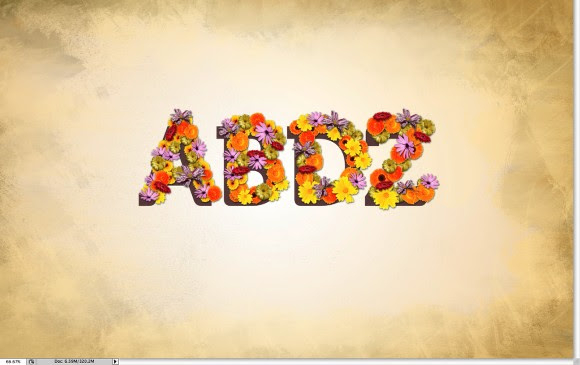 Super Easy and Cool Flower Text Effect in Photoshop