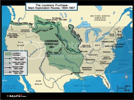 map of land included in the Louisiana Purchase