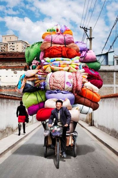 Overloaded Bike in Shanghai, China