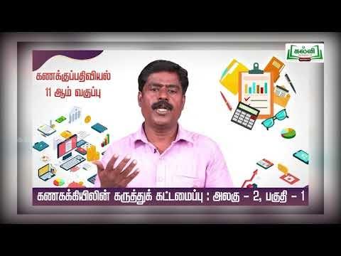 11th Accountancy  கணக்கியலின் கருத்துக் கட்டமைப்பு அலகு 2 Kalvi TV