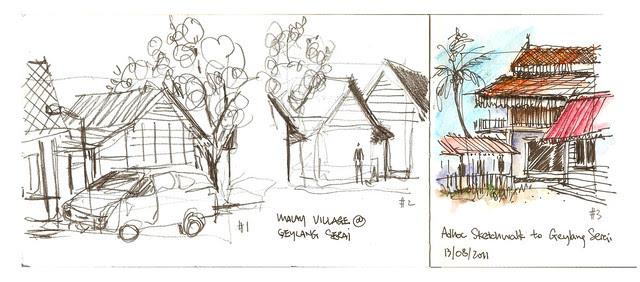Adhoc Sketchwalk @ Geylang Serai Malay Village
