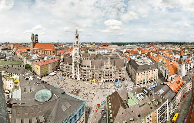 Munich as seen from St. Peter chruch