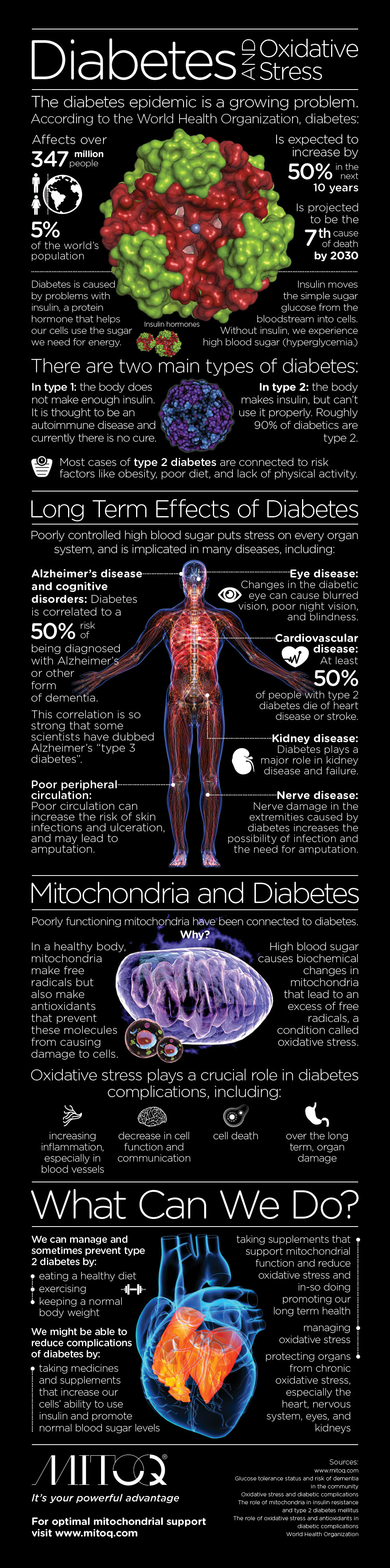 Infographic: Diabetes and Oxidative Stress #infographic