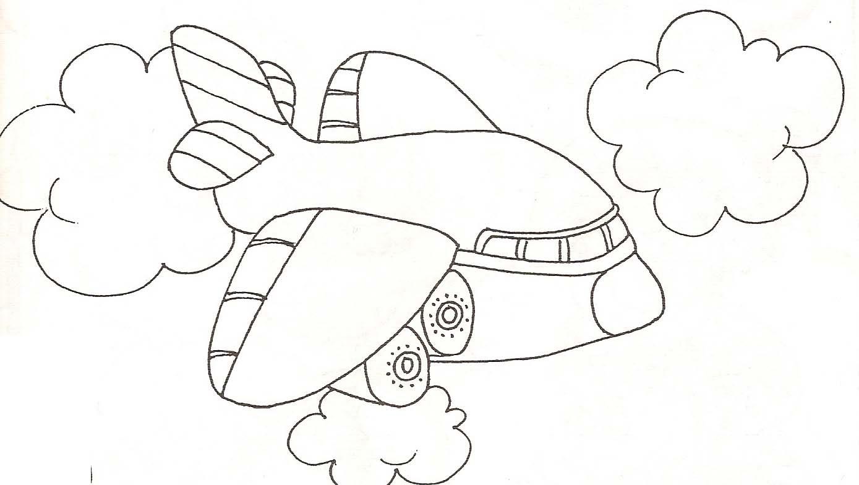 avion a colorier