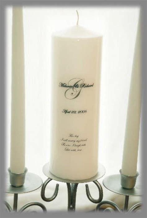 Personalized Unity Candle SET With Monogram, Wedding