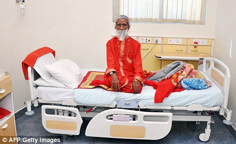 Tests: 83-year-old Prahlad Jani has twice attended hospital to be watched by eminent doctors