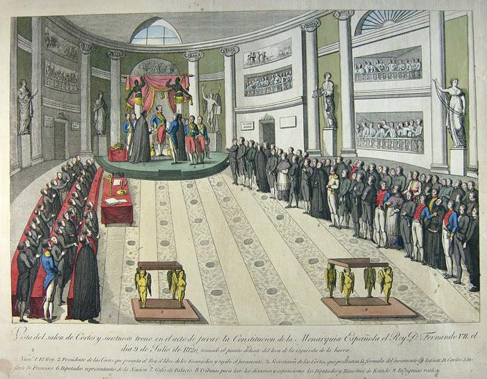 Resultado de imagen de fernando vii jura la constitucion de 1820