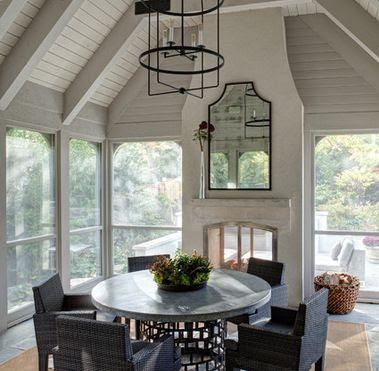 Indoor-outdoor double-sided fireplace?   Backyard retreat   Pinterest