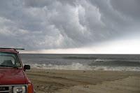 massive storm cloud head offshore