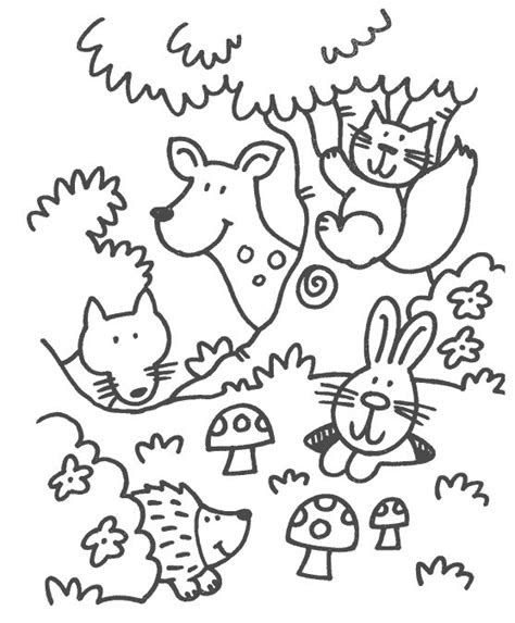 woodland animals  christmas coloring pages coloring pages