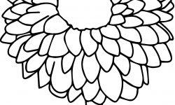 Ayçiçeği çiçek Boyama Sayfası