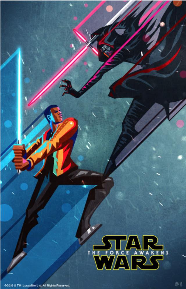 The Force Awakens Poster Set by Kaz Oomori