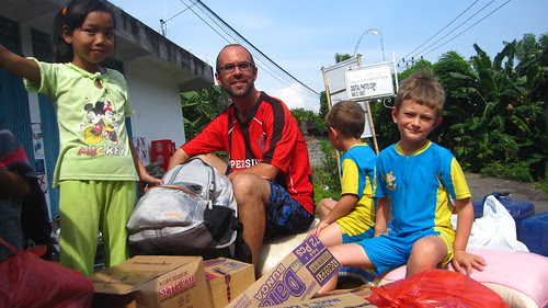 ridin' with the groceries in the back of a truck, Bali