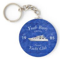 Yacht Club Yeah Buoy Basic Round Button Keychain