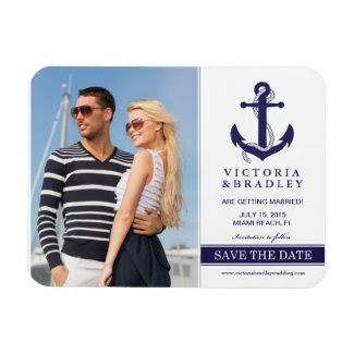 Nautical Save The Date Photo Magnet
