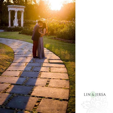 Huntington Library Engagement   Epic Sunset Photos