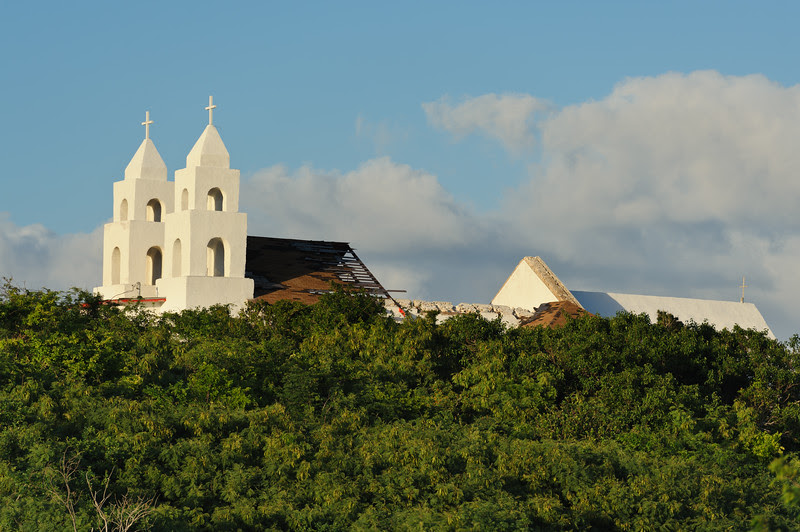 Clarence Town church, Long Island. Bahamas