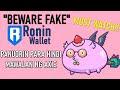 BEWARE: FAKE RONIN WALLET  PAANO MALALAMAN ANG FAKE RONIN WALLET WEBSITE