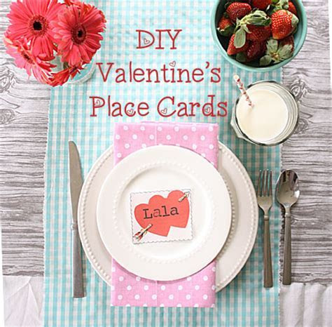DIY Valentine's Place Cards   The Graphics Fairy