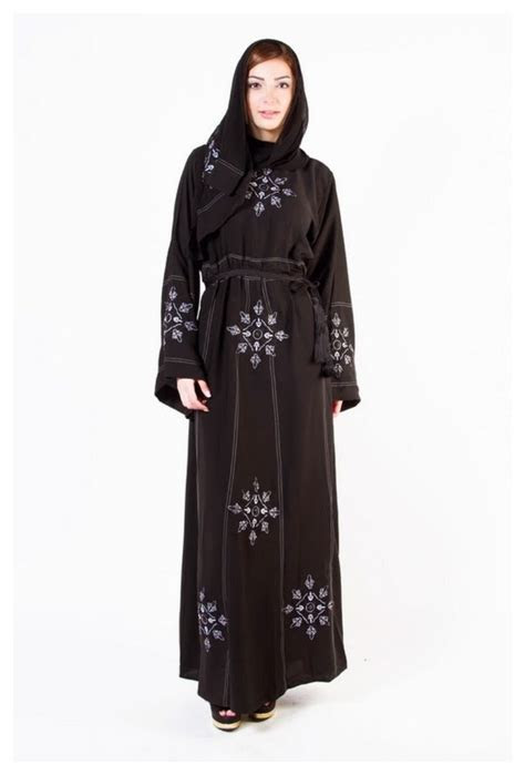 Black Abaya & Hijab 2018 Embroidered Best Design for Girls