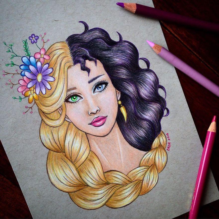 Rapunzel vs Mother Gothel